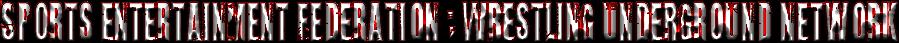 Sports Entertainment Federation : Wrestling Underground Network
